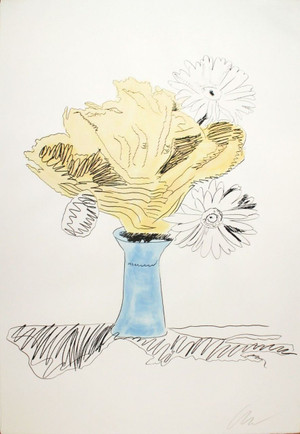 FLOWERS HAND COLORED (FS II.113) BY ANDY WARHOL