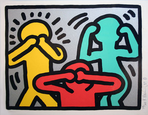 POP SHOP III (3) BY KEITH HARING