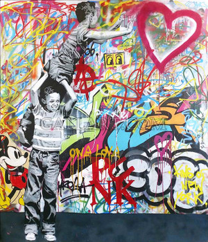 NEVER GIVE UP! (ORIGINAL) BY MR. BRAINWASH