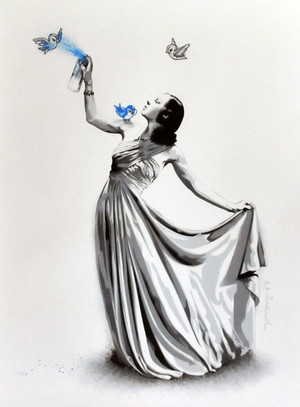 SNOW WHITE (BLUE) BY MR. BRAINWASH