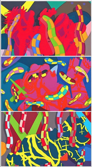 LOST TIME, ALONE AGAIN AND FAR FAR DOWN (SET OF 3) BY KAWS
