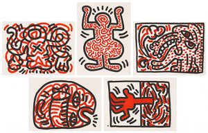 LUDO (SET OF 6) BY KEITH HARING