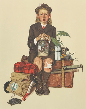 HOME FROM CAMP BY NORMAN ROCKWELL