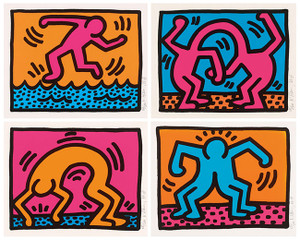 POP SHOP II (SET OF 4) BY KEITH HARING