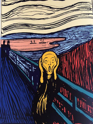 THE SCREAM (ORANGE) BY ANDY WARHOL FOR SUNDAY B. MORNING