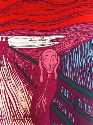 THE SCREAM (PINK) BY ANDY WARHOL FOR SUNDAY B. MORNING