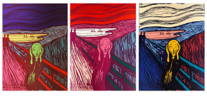 THE SCREAM (SET OF 3) BY ANDY WARHOL FOR SUNDAY B. MORNING
