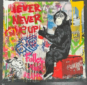 EVERYDAY LIFE (NEVER NEVER GIVE UP) (ORIGINAL) BY MR. BRAINWASH
