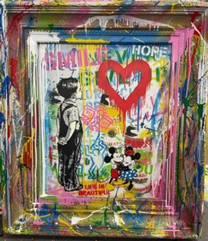 WITH ALL MY LOVE! (ORIGINAL ON CANVAS) BY MR. BRAINWASH