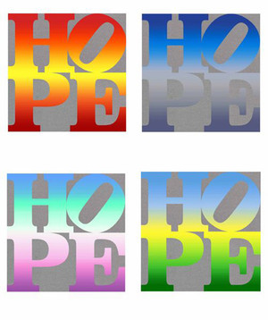 SEASON OF HOPE (SET OF 4) BY ROBERT INDIANA