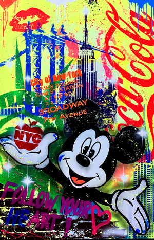 MICKEY NYC BIG APPLE BY MICHEL FRIESS