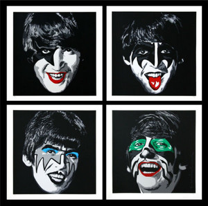 KISS THE BEATLES (SET OF 4) BY MR. BRAINWASH