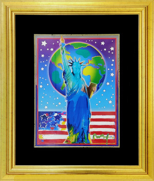 PEACE ON EARTH II (OVERPAINT) BY PETER MAX