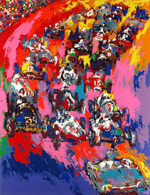 INDY START BY LEROY NEIMAN