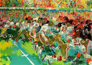 SILVERDOME SUPERBOWL  BY LEROY NEIMAN