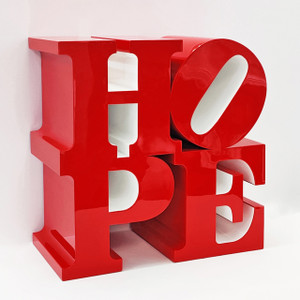 HOPE SCULPTURE (RED/WHITE) BY ROBERT INDIANA