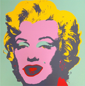 MARILYN MONROE 11.23 BY ANDY WARHOL FOR SUNDAY B. MORNING