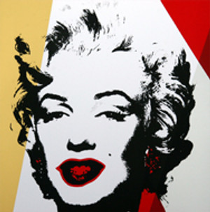 GOLDEN MARILYN MONROE 11.37 BY ANDY WARHOL FOR SUNDAY B. MORNING