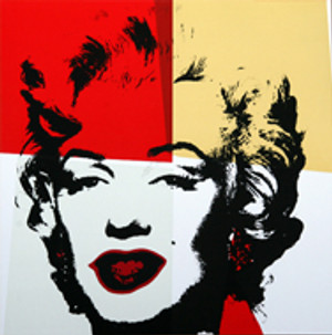 GOLDEN MARILYN MONROE 11.38 BY ANDY WARHOL FOR SUNDAY B. MORNING