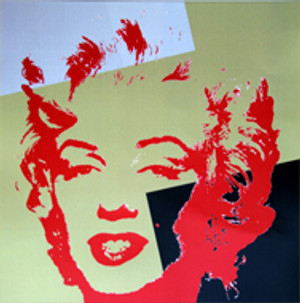 GOLDEN MARILYN MONROE 11.44 BY ANDY WARHOL FOR SUNDAY B. MORNING