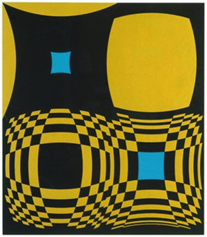 GEOMETRIC COMPOSITION BY VICTOR VASARELY