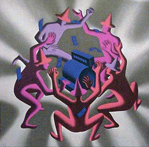 CASH DANCE (GREY) BY MARK KOSTABI