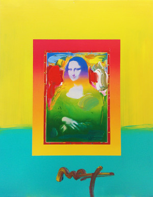 MONA LISA (YELLOW OVERPAINT) BY PETER MAX