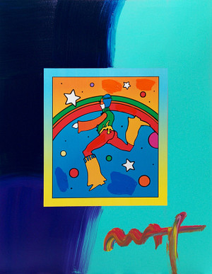 COSMIC JUMPER (OVERPAINT) BY PETER MAX