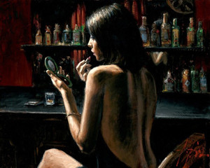 ANNA AT THE BAR BY FABIAN PEREZ