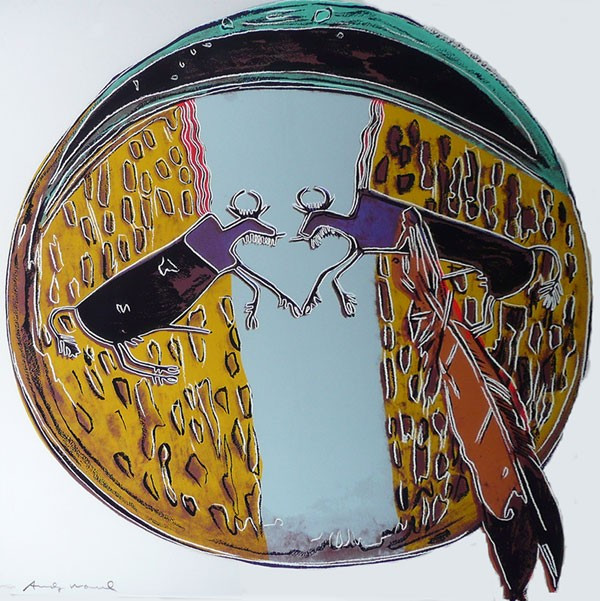 PLAINS INDIAN SHIELD FS II.382 BY ANDY WARHOL
