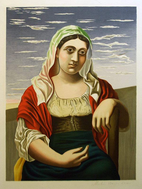 ITALIENNE D'APRES UNE PHOTOGRAPHIE BY MARINA PICASSO