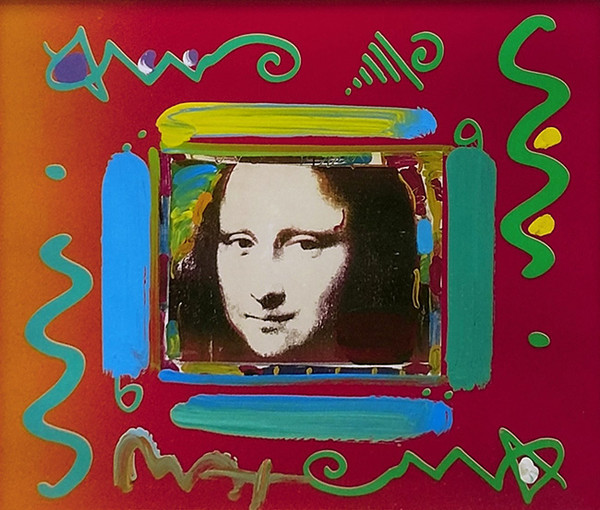 MONA LISA COLLAGE (MIXED MEDIA) BY PETER MAX