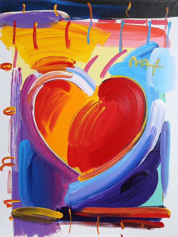 HEART VERSION IX BY PETER MAX