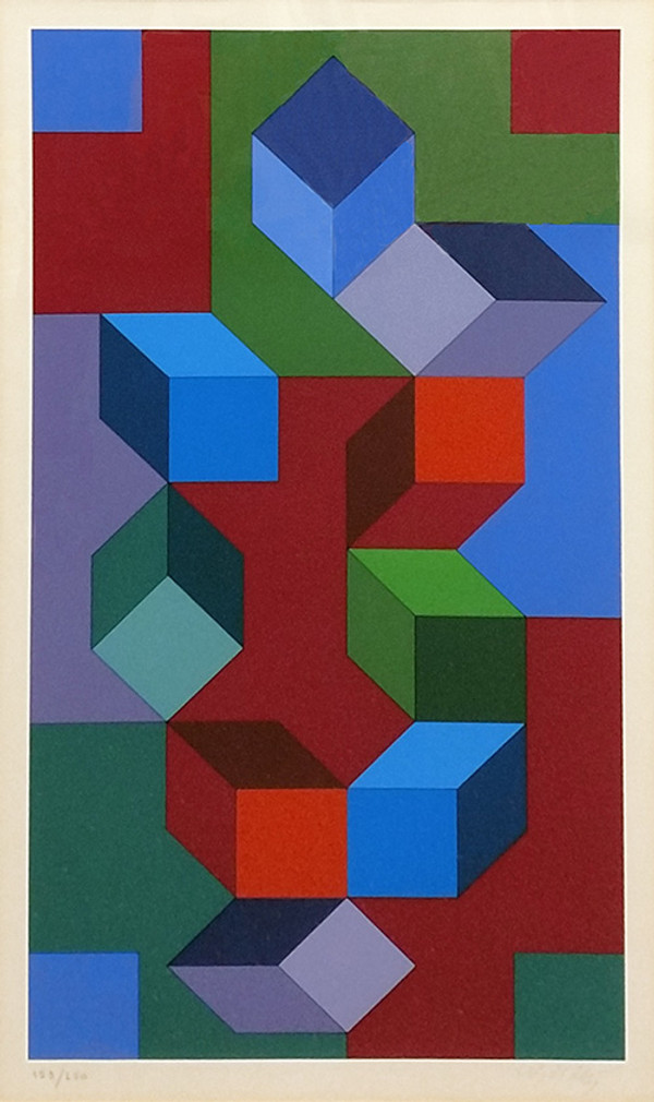 COMPOSITION I BY VICTOR VASARELY