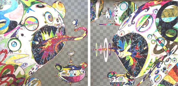 HOMAGE TO FRANCIS BACON (SET OF 2) BY TAKASHI MURAKAMI