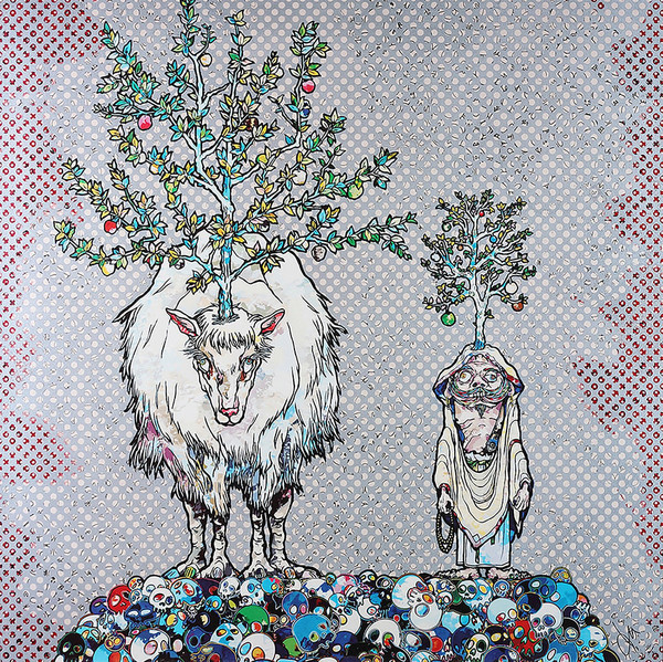 DEER GOD OF THE FOREST AND ARHAT BY TAKASHI MURAKAMI