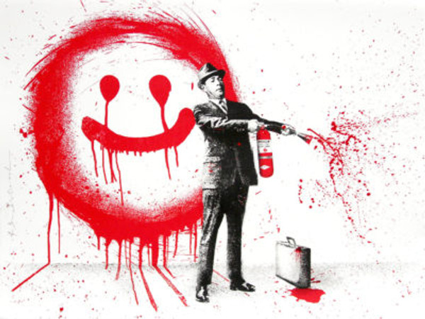 SPRAY HAPPINESS (RED) BY MR. BRAINWASH