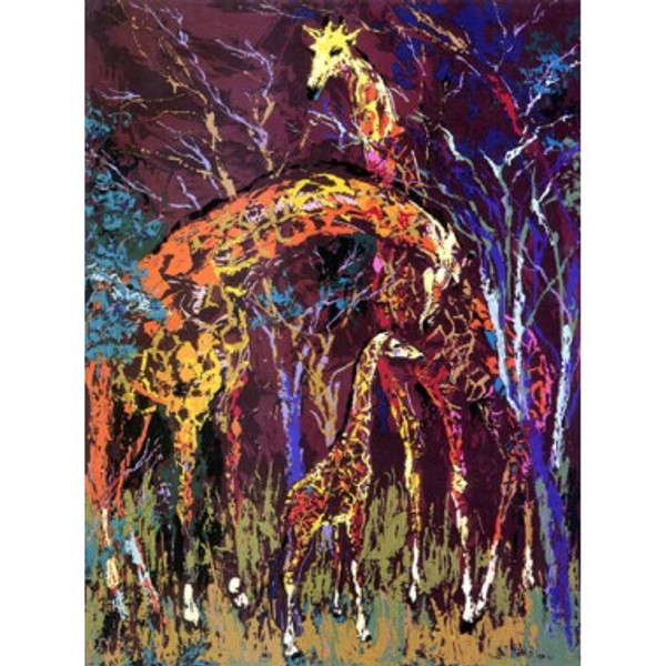 GIRAFFE FAMILY BY LEROY NEIMAN