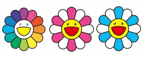 SMILEY (SET OF 3) BY TAKASHI MURAKAMI