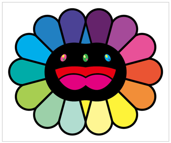 MULTICOLOR DOUBLE FACE (BLACK)  BY TAKASHI MURAKAMI
