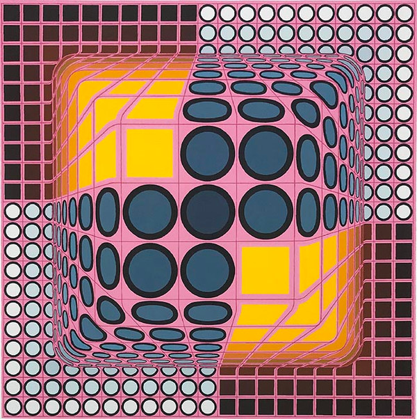PINK COMPOSITION BY VICTOR VASARELY