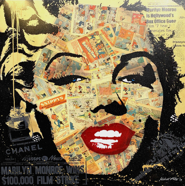 MARILYN COMIC FACE BY MICHEL FRIESS