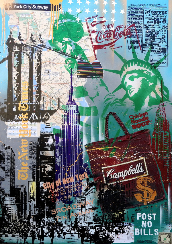 NYC GREEN LIBERTY AND CAMPBELL'S BAG BY MICHEL FRIESS