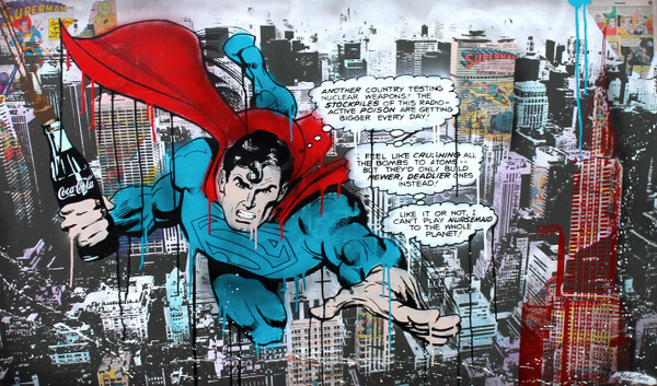 SUPERMAN OVER NYC BY MICHEL FRIESS