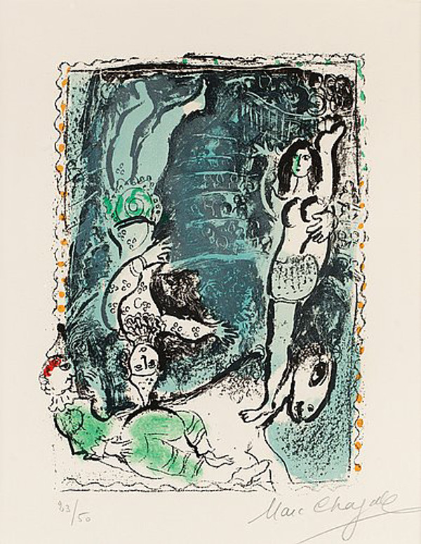 LA PIROUETTE BLUE BY MARC CHAGALL