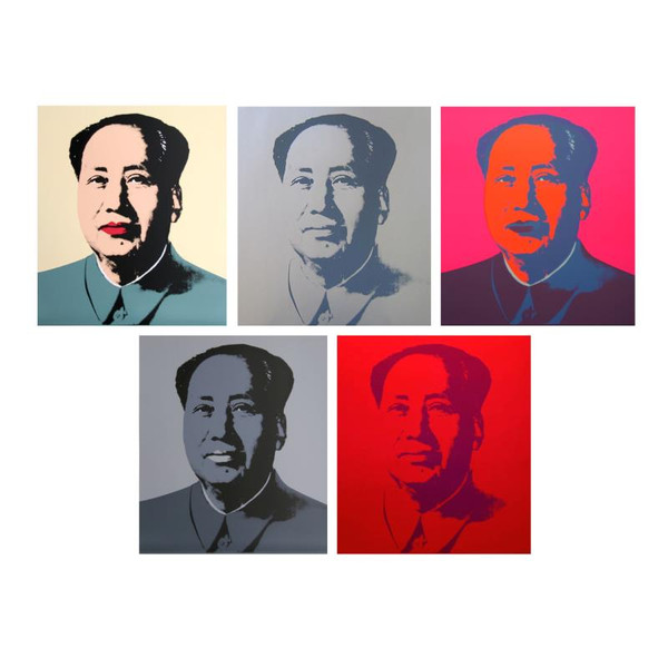 MAO (PORTFOLIO OF 5) BY ANDY WARHOL FOR SUNDAY B. MORNING