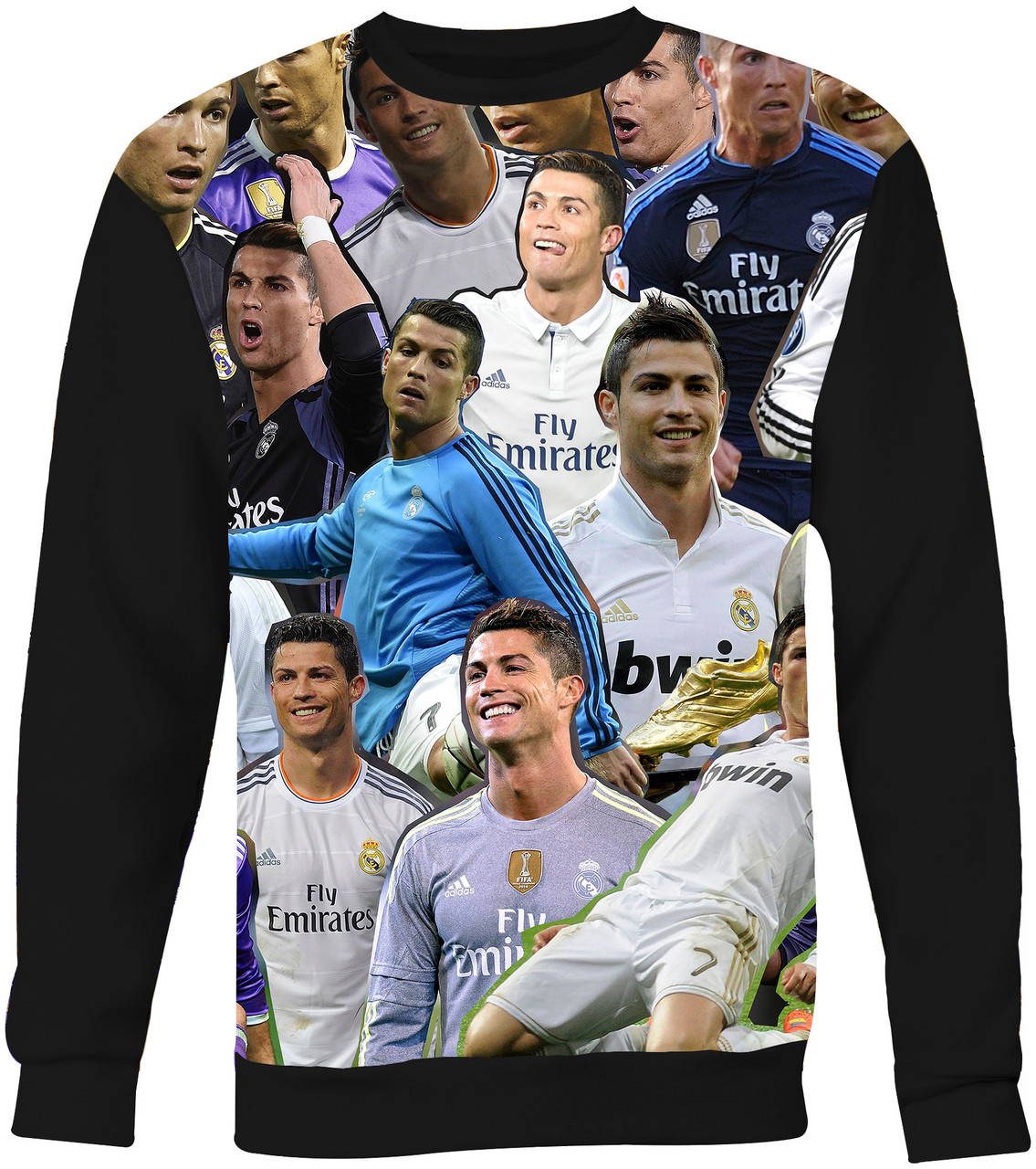 new styles 25bf0 1c83a Cristiano Ronaldo Collage Sweater Sweatshirt