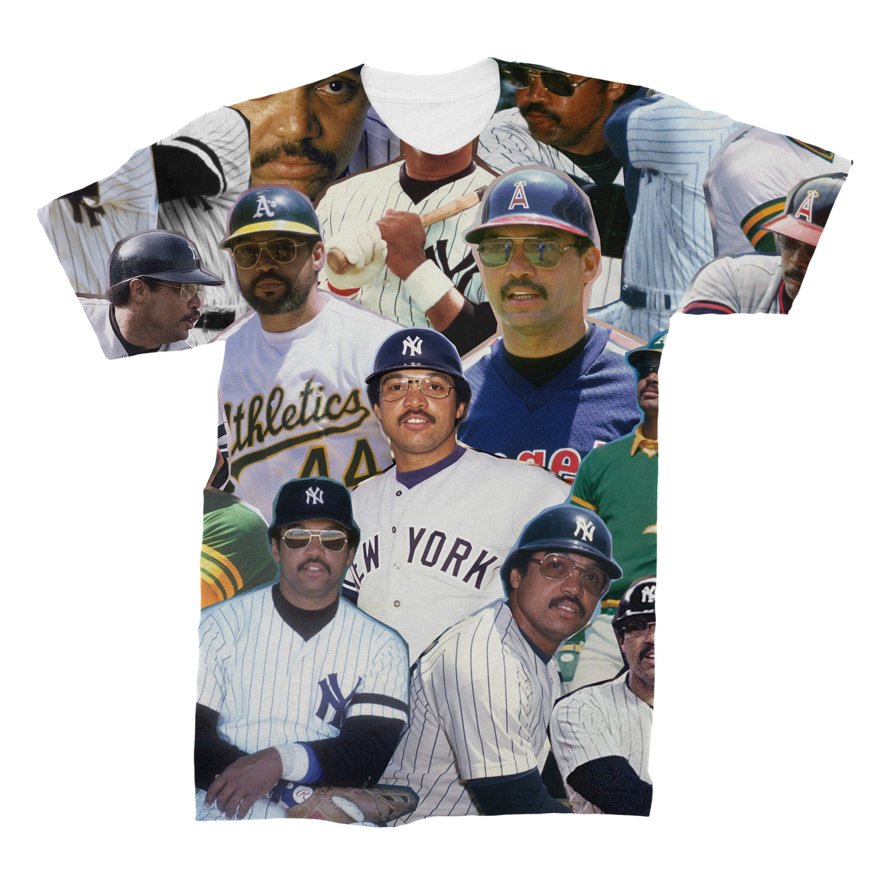 best service ca7bf 35942 Reggie Jackson Photo Collage T-Shirt