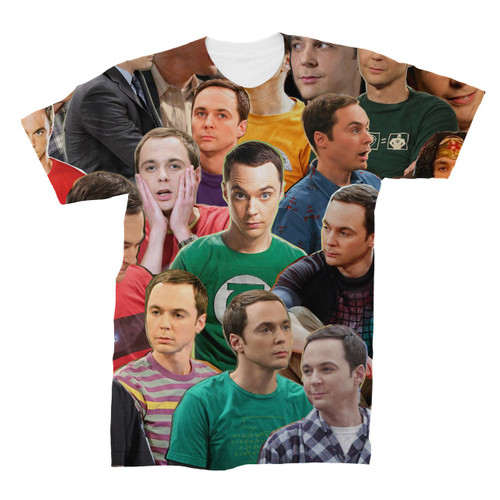 Sheldon Cooper (The Big Bang Theory) Photo Collage T-Shirt