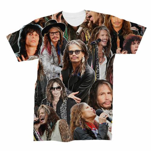 Steven Tyler Aerosmith Photo Collage T-Shirt